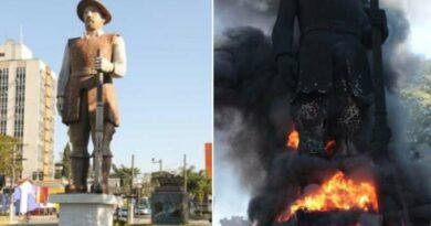Homem que assumiu culpa por atear fogo a estátua de Borba Gato é preso junto com a esposa